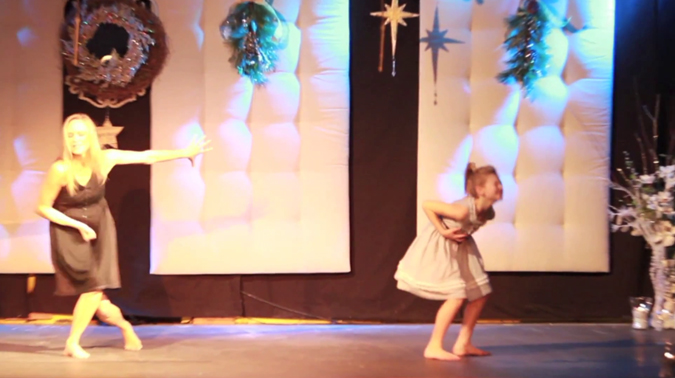 Autumn, Krista & Cory Miller - Autumn Miller and Mother Krista Miller Duet (December 24, 2011)