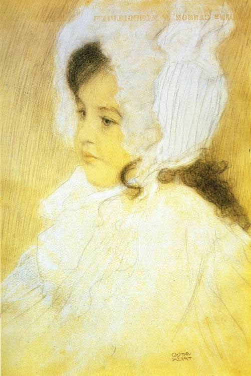 Gustav Klimt - Portrait of a Girl (1902)