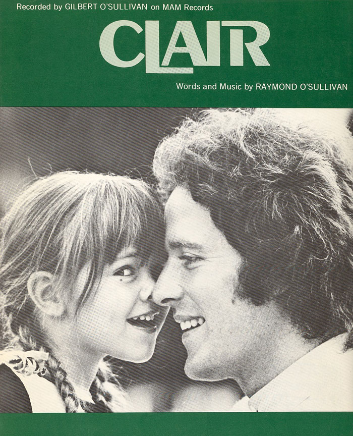 Photographer/Designer Unknown - Gilbert O'Sullivan - Clair (cover) (1972)