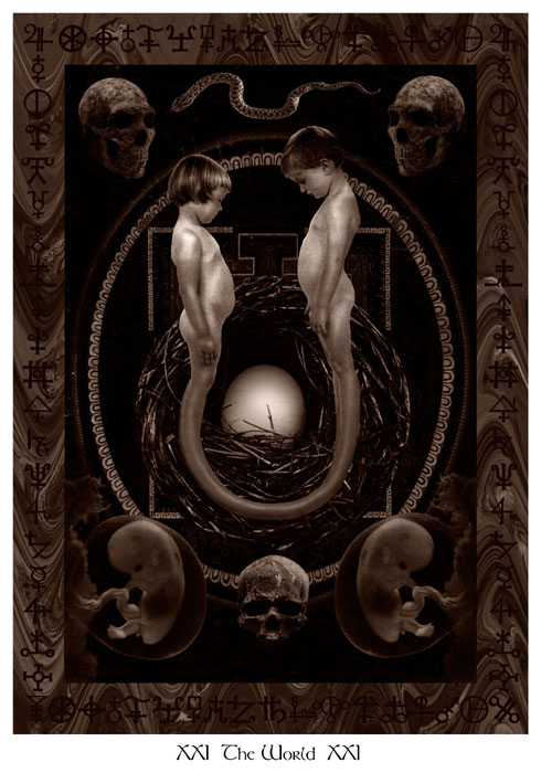 David Aronson - Alchemical Wedding Tarot - The World