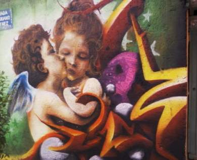 cupid-and-psyche-as-children-graffiti