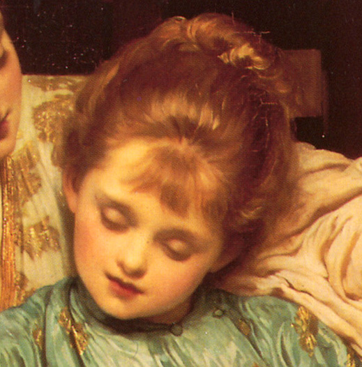 Frederic Lord Leighton - The Music Lesson (detail) (1877)
