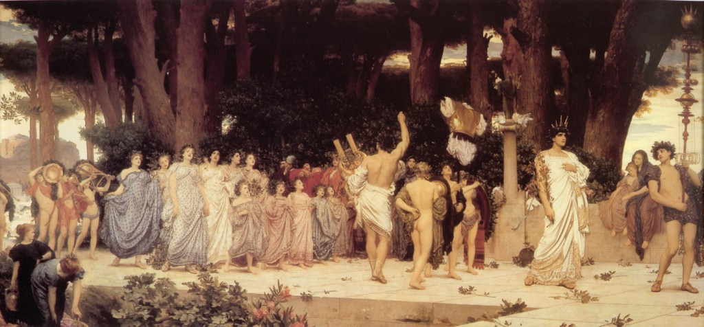 Frederic Lord Leighton - The Daphnephoria (1876)