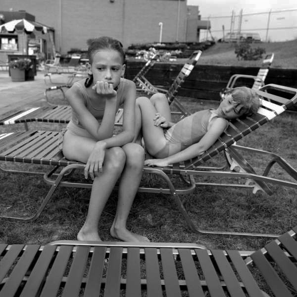 Jack Radcliffe - Alison - AR and Julia at the Pool, Bel Air, MD (1987)