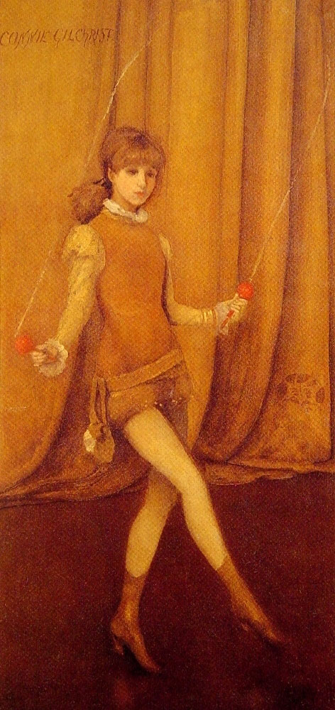 James Abbott McNeill Whistler - Harmony in Yellow and Gold - Gold Girl - Connie Gilchrist (1877)