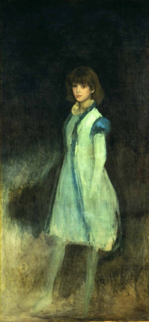 James Abbott McNeill Whistler - The Blue Girl - Portrait of Connie Gilchrist (1879)