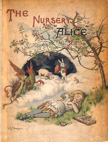 john-tenniel-the-nursery-alice-first-edition-cover