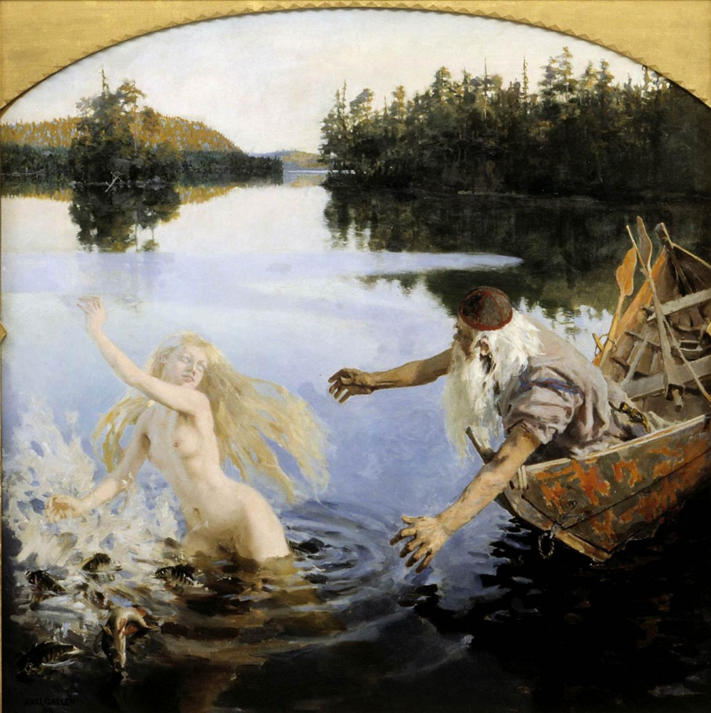 Akseli Gallen-Kallela – The Legend of Aino (center panel) (1891)