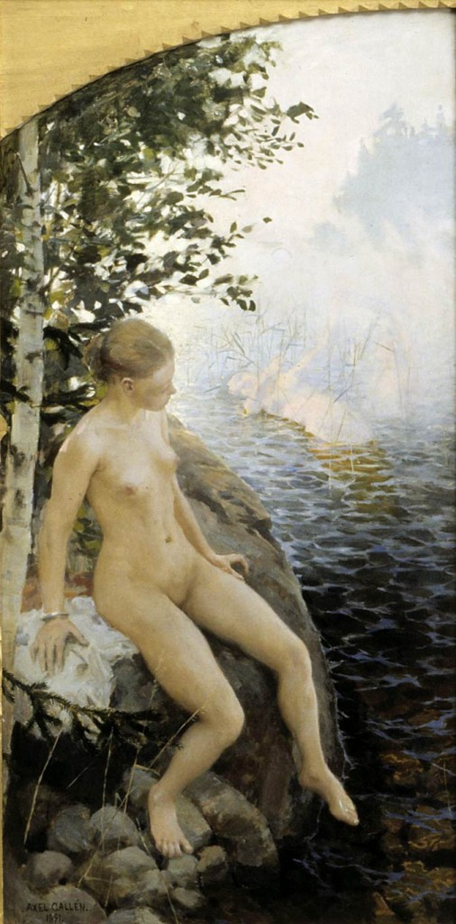 Akseli Gallen-Kallela – The Legend of Aino (right panel) (1891)
