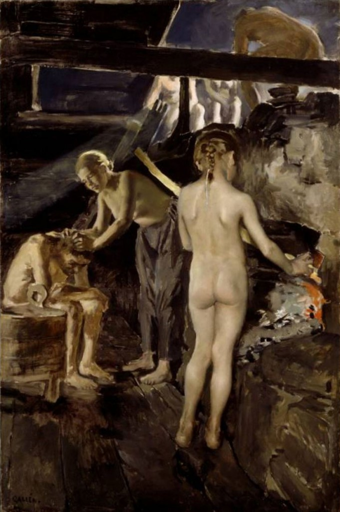 Akseli Gallen-Kallela – In the Sauna (1889)