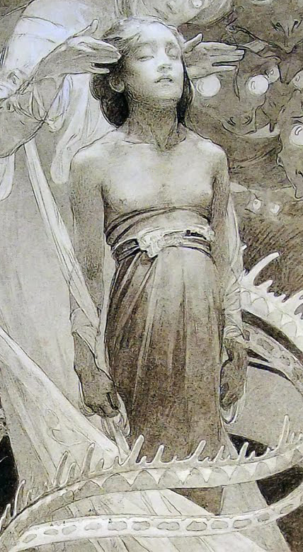 Alphonse Mucha – Le Pater (1899) (detail)