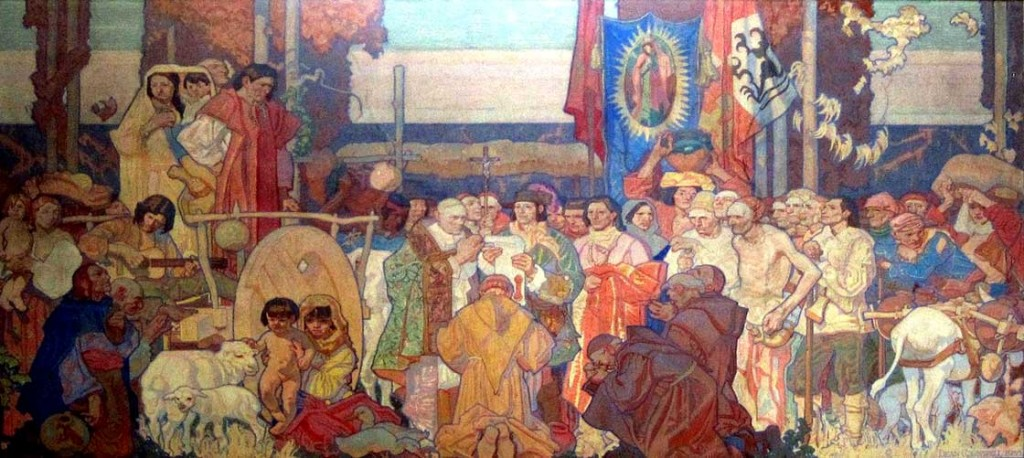 Dean Cornwell - The Founding of Los Angeles (mural, LA Public Library) (1932)