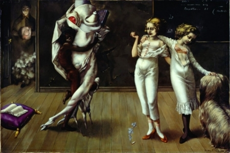 Dorothea Tanning - Interior with Sudden Joy (1951)