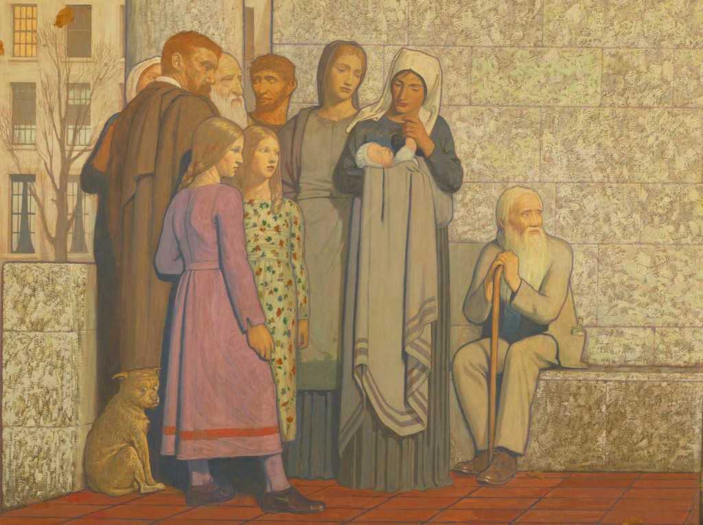 Frederick Cayley Robinson – Acts of Mercy – The Doctor (right panel) (detail)