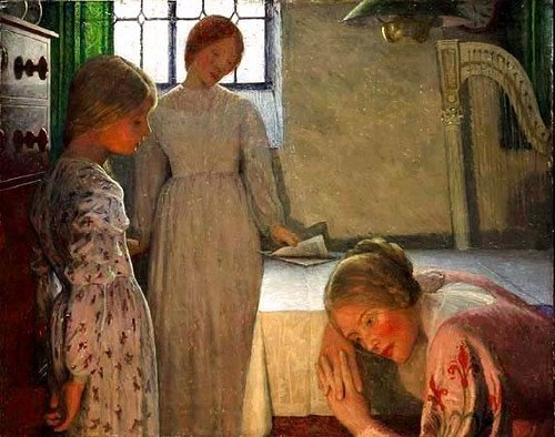frederick-cayley-robinson-a-winters-evening-1-1899