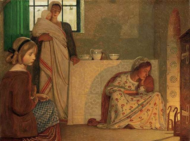 Frederick Cayley Robinson – A Winter's Evening (1899) (2)