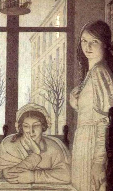 Frederick Cayley Robinson – Interior, Evening