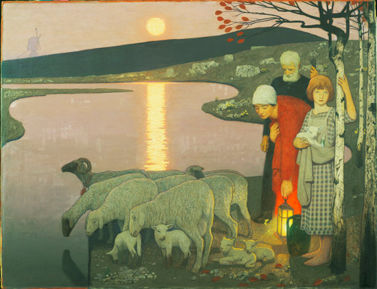 Frederick Cayley Robinson – Pastoral (1923) (1)