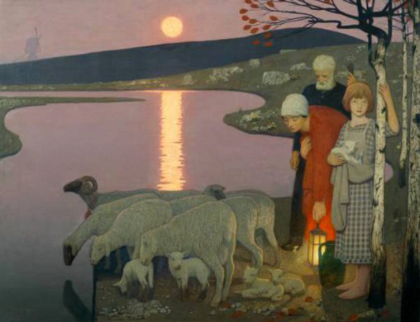 Frederick Cayley Robinson – Pastoral (1923) (2)