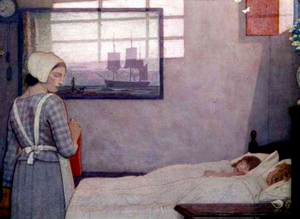 Frederick Cayley Robinson – Sleeping Children with Their Nurse