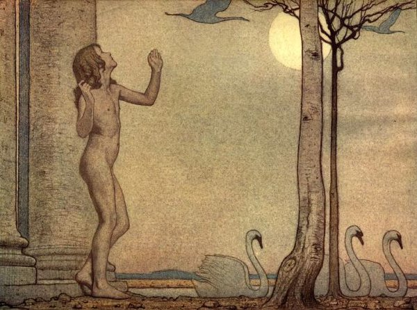 Frederick Cayley Robinson – The Blue Bird – (Title Unknown)