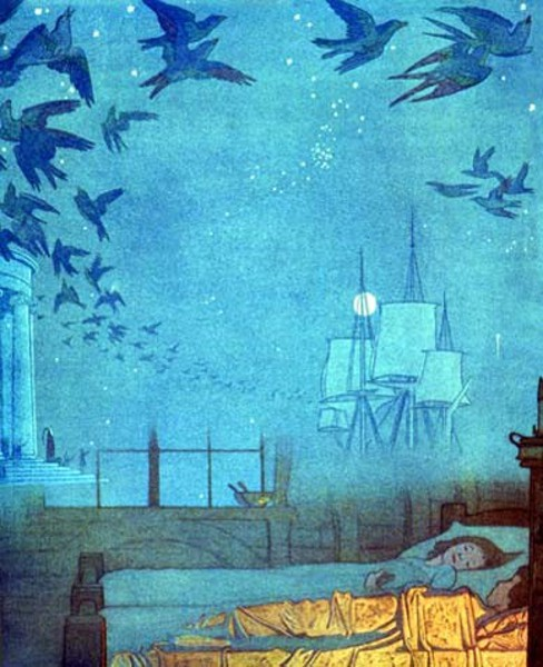 Frederick Cayley Robinson – The Blue Bird – Dreamships