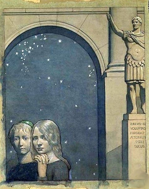 Frederick Cayley Robinson – The Blue Bird – The Children Enter the Palace of Luxury