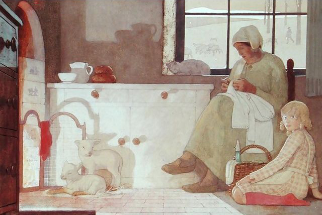 Frederick Cayley Robinson – The Foster Mother (1925)