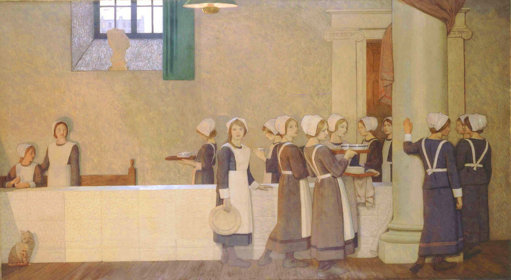 Frederick Cayley Robinson – Acts of Mercy – Orphans (right panel)