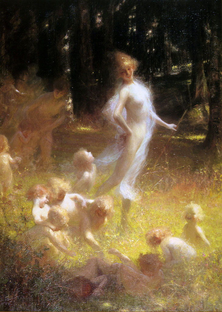 Georges Picard – Fairy and Sprites in the Undergrowth