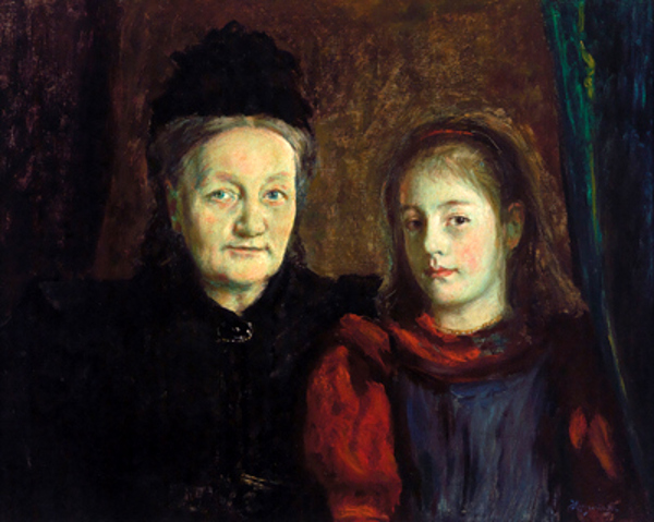 Hans Olaf Heyerdahl – Anna Margrethe Wriedt and Her Granddaughter Margrethe Giese