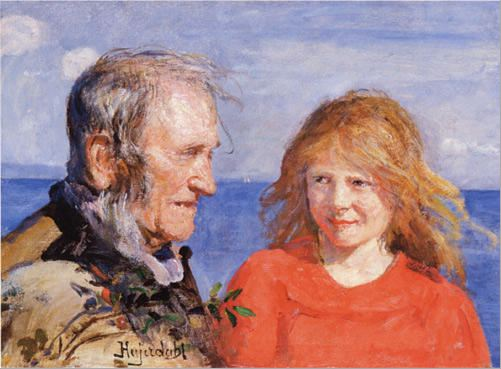 Hans Olaf Heyerdahl – Fisherman and Daughter