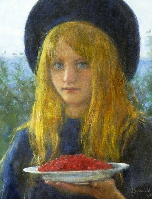 Hans Olaf Heyerdahl – Girl with Red Current