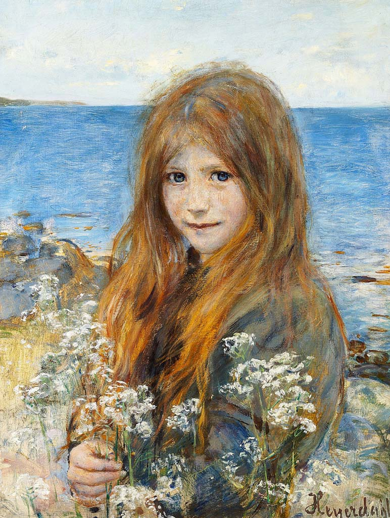 Hans Olaf Heyerdahl – Little Girl on the Beach