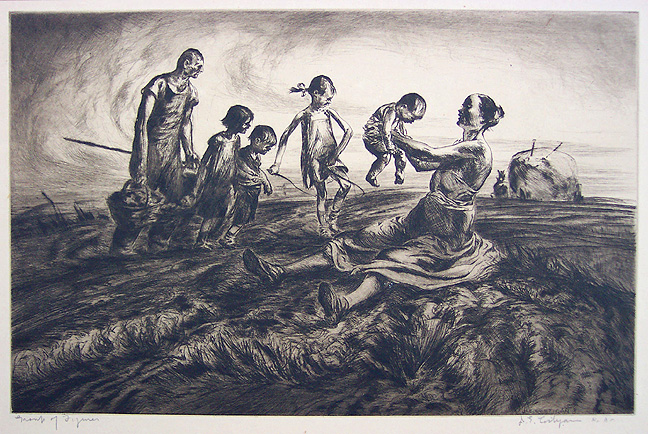 John Edward Costigan - Group of Figures (1934)