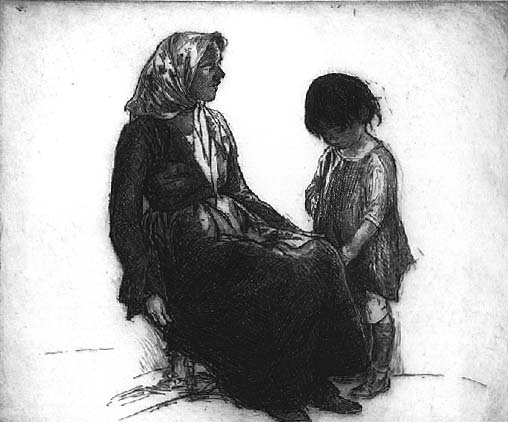 John E. Costigan - Mother and Child (1922)