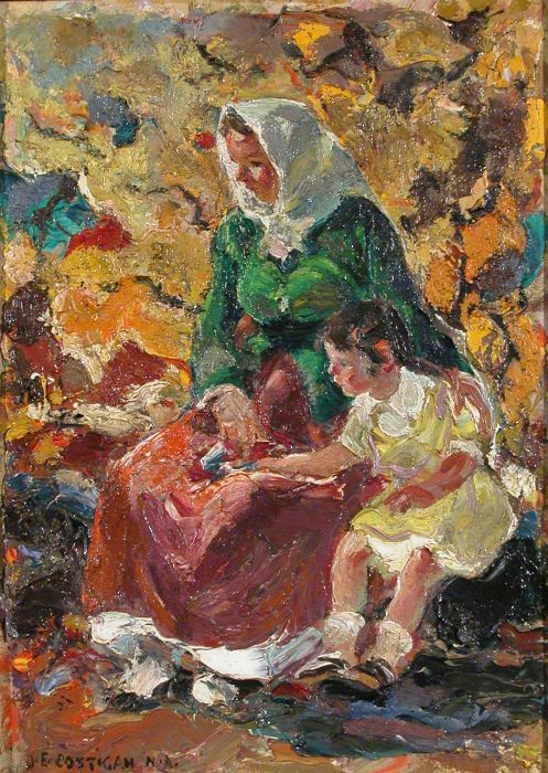 John Edward Costigan - Mother and Child