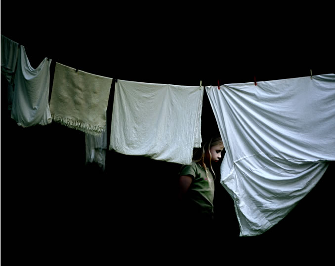 Julia Peirone - Girl Behind Laundry (2003)