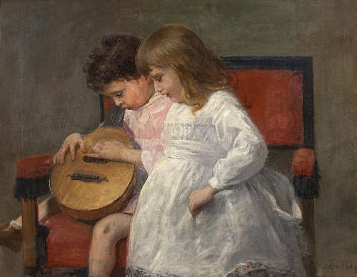 leopold-graf-von-kalckreuth-brother-and-sister-playing-music