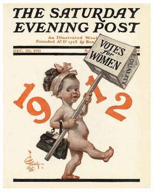 J.C. Leyendecker - Cover for The Saturday Evening Post, December 30th, 1911