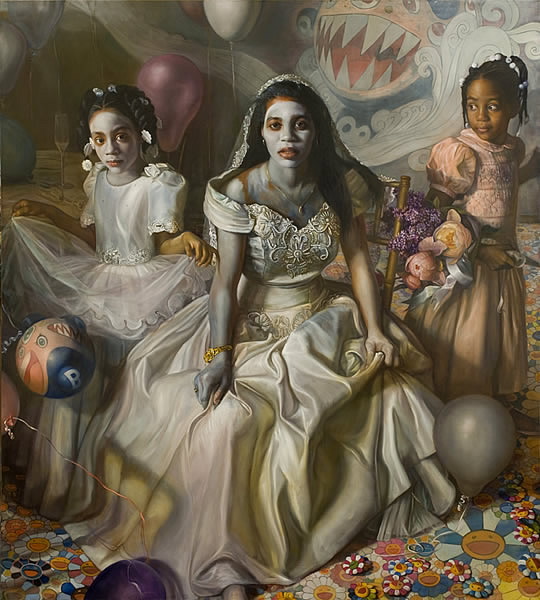 Margaret Bowland - Portrait of Kenyetta and Brianna (2008)