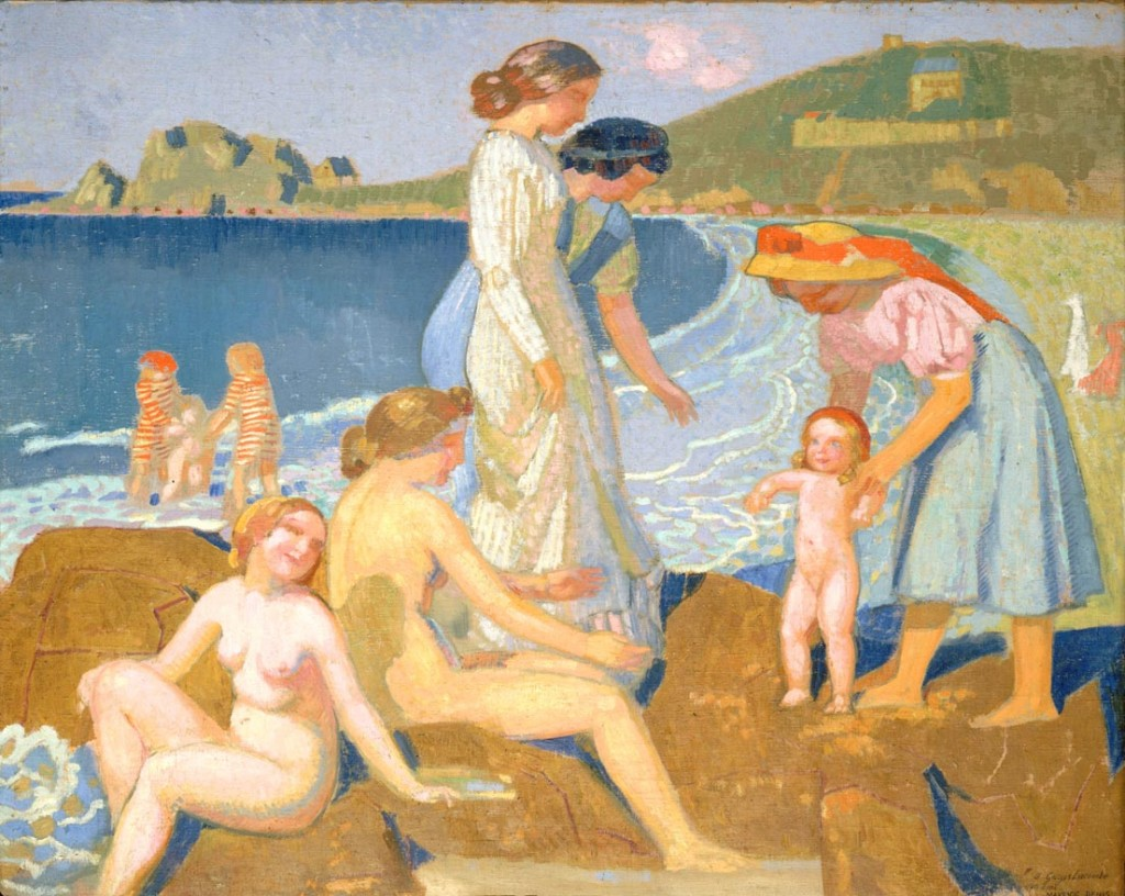 Maurice Denis - Female Bathers at Perros-Guirec (1909)