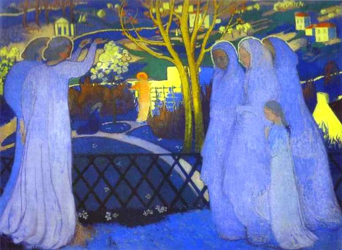 Maurice Denis - Holy Women Near the Tomb (1894)