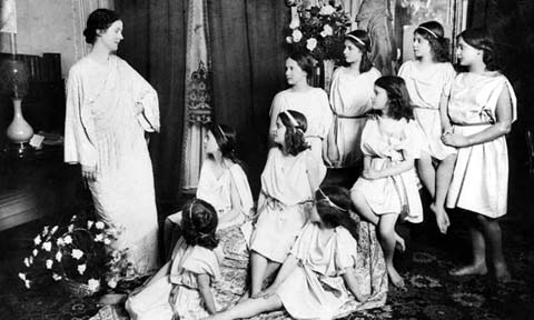Paul Berger - Isadora Duncan with her pupils, Paris, France