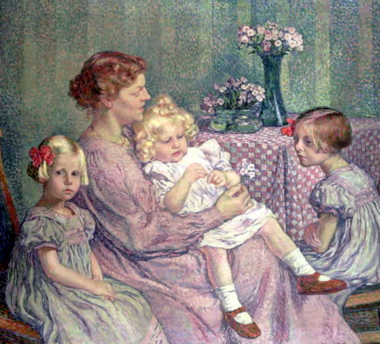 Théo van Rysselberghe – Madame Van de Velde and Her Children