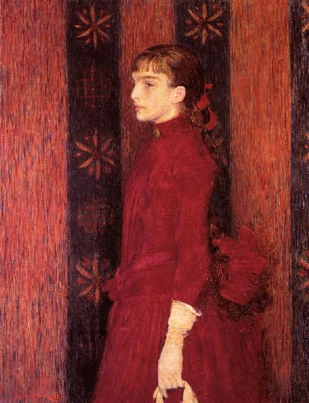 Théo van Rysselberghe – Portrait of a Young Girl in Red