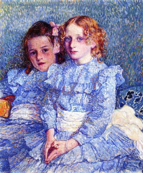 Théo van Rysselberghe – Portrait of Helene and Michette Guinotte
