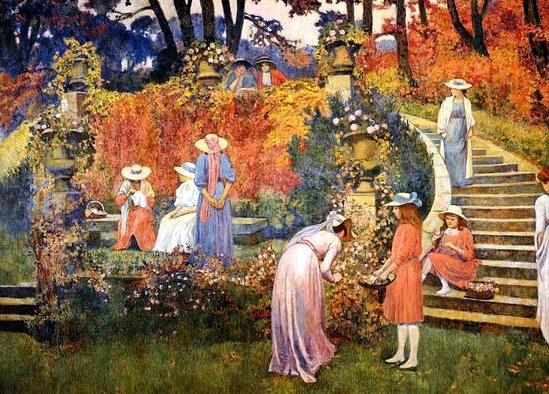 Théo van Rysselberghe – The Garden of Felicien Rops at Essone