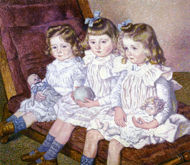 Théo van Rysselberghe – Three Daughters