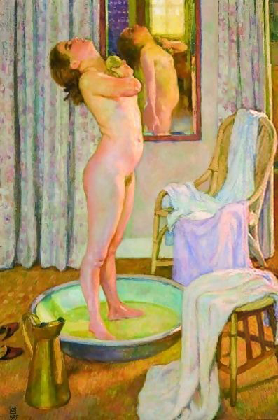 Théo van Rysselberghe – Young Girl in a Tub